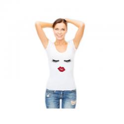 Tee shirt femme blanc manche courte personnalisé