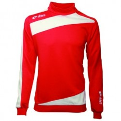 Sweat zip prestige Eldera rouge et blanc
