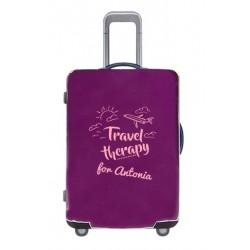 Housses de valise violette mockup