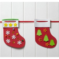 Décoration chaussette de Noël à garnir