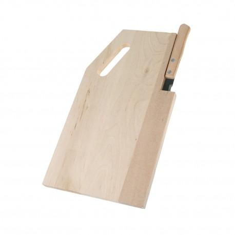 Planche à découper rectangulaire avec couteau