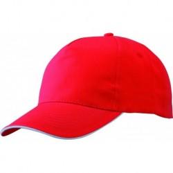 Casquette Rouge visière Filet Blanche