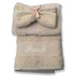 Panier serviette individuelle brodée