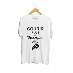"""T-shirt sport """"Courir plus pour manger plus"""""""
