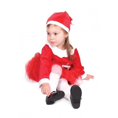 Robe et bonnet de Noël petite fille