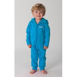 Grenouillère Comfi Co pour bébé bleu brodée