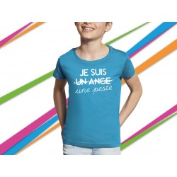 T-shirt fillette phrase