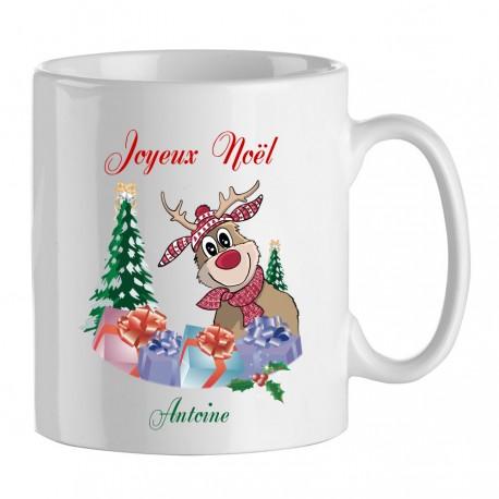 Mug - Fête de Noël avec personnalisation du prénom