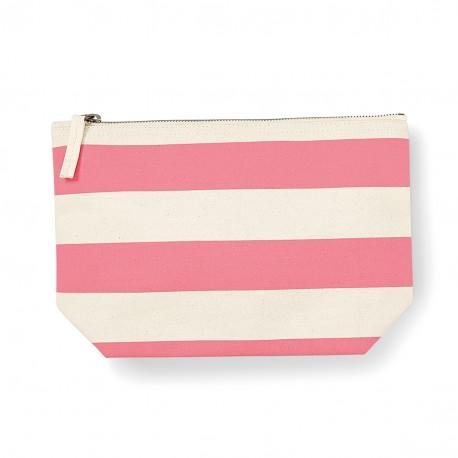 Trousse à accessoires nautical. beige/rose